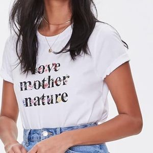 F21 Love Mother Nature Floral Graphic Tee
